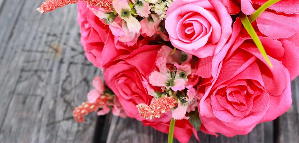 bouquet de mariage rose